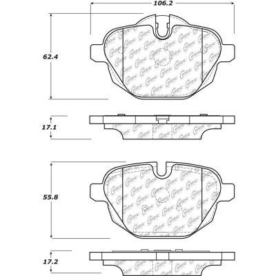 Posi Quiet Ceramic Brake Pads with Shims and Hardware , Posi Quiet 105.14730