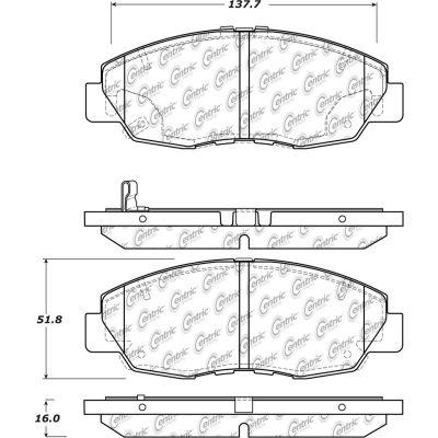 Posi Quiet Ceramic Brake Pads with Shims and Hardware , Posi Quiet 105.15780