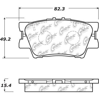 Posi Quiet Ceramic Brake Pads with Shims and Hardware , Posi Quiet 105.16320