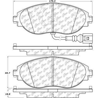 Posi Quiet Ceramic Brake Pads with Shims and Hardware , Posi Quiet 105.16330