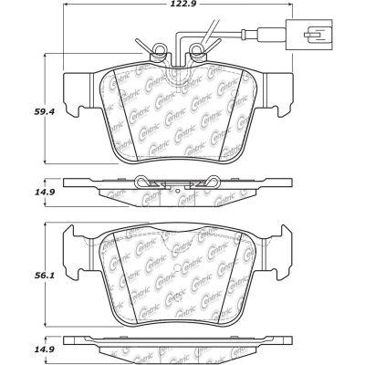 Posi Quiet Ceramic Brake Pads with Shims , Posi Quiet 105.19890