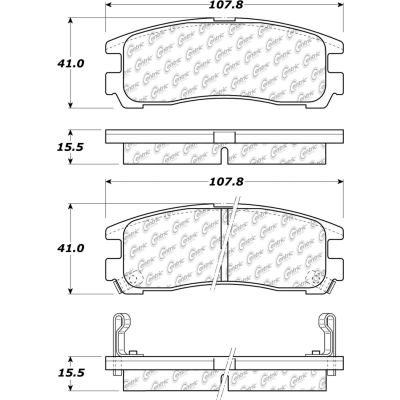 Posi Quiet Extended Wear Brake Pads with Shims and Hardware , Posi Quiet 106.03830