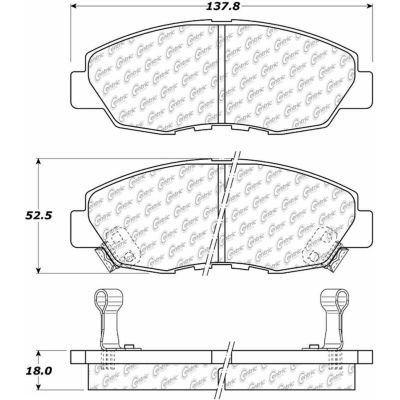 Posi Quiet Extended Wear Brake Pads with Shims and Hardware , Posi Quiet 106.04650