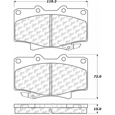 Posi Quiet Extended Wear Brake Pads with Shims and Hardware , Posi Quiet 106.05020