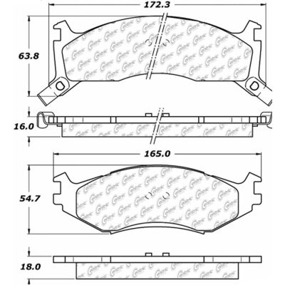 Posi Quiet Extended Wear Brake Pads with Shims and Hardware , Posi Quiet 106.05240