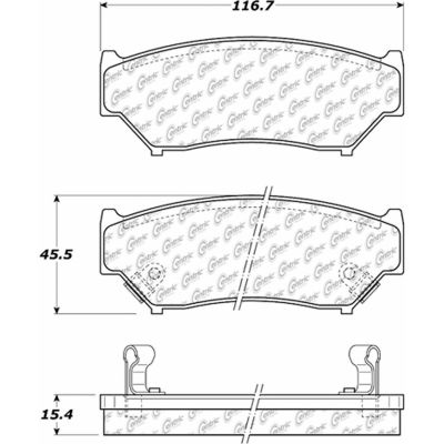 Posi Quiet Extended Wear Brake Pads with Shims and Hardware , Posi Quiet 106.05560