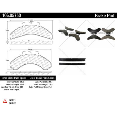 Posi Quiet Extended Wear Brake Pads with Shims , Posi Quiet 106.05750