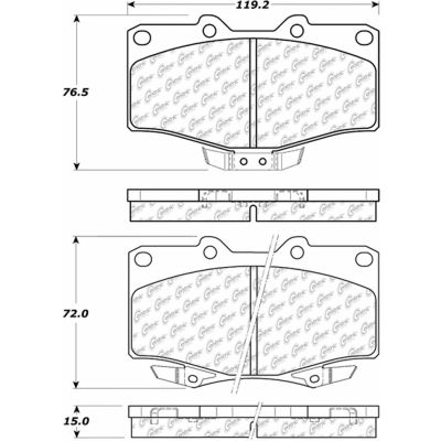 Posi Quiet Extended Wear Brake Pads with Shims and Hardware , Posi Quiet 106.06110