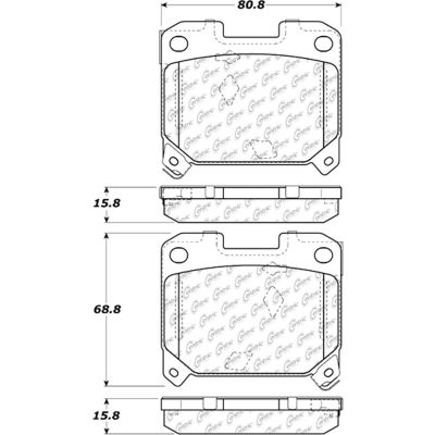 Posi Quiet Extended Wear Brake Pads with Shims , Posi Quiet 106.06300