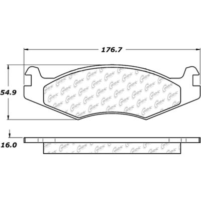 Posi Quiet Extended Wear Brake Pads with Shims and Hardware , Posi Quiet 106.06510