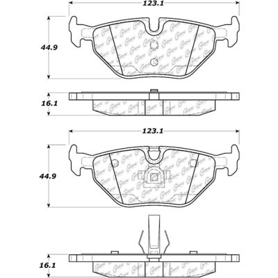 Posi Quiet Extended Wear Brake Pads with Shims and Hardware , Posi Quiet 106.06920