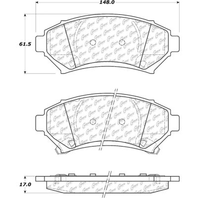 Posi Quiet Extended Wear Brake Pads with Shims and Hardware , Posi Quiet 106.06990