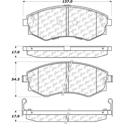 Posi Quiet Extended Wear Brake Pads with Shims and Hardware , Posi Quiet 106.07000