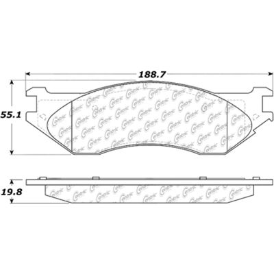 Posi Quiet Extended Wear Brake Pads with Shims and Hardware , Posi Quiet 106.07021