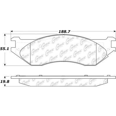 Posi Quiet Extended Wear Brake Pads with Shims and Hardware , Posi Quiet 106.07022