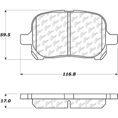 Posi Quiet Extended Wear Brake Pads with Shims and Hardware , Posi Quiet 106.07070