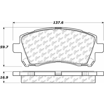 Posi Quiet Extended Wear Brake Pads with Shims and Hardware , Posi Quiet 106.07210