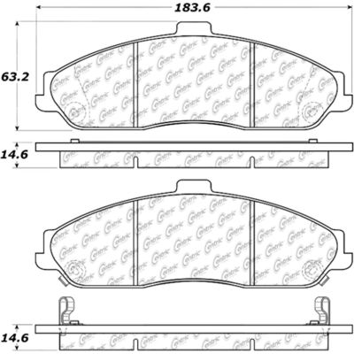 Posi Quiet Extended Wear Brake Pads with Shims and Hardware , Posi Quiet 106.07310