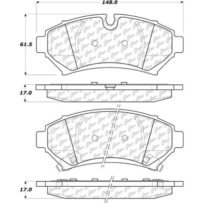 Posi Quiet Extended Wear Brake Pads with Shims and Hardware , Posi Quiet 106.07530