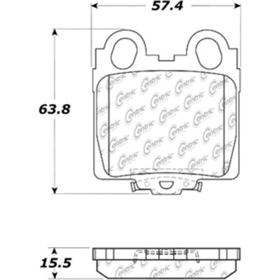 Posi Quiet Extended Wear Brake Pads with Shims and Hardware , Posi Quiet 106.07710