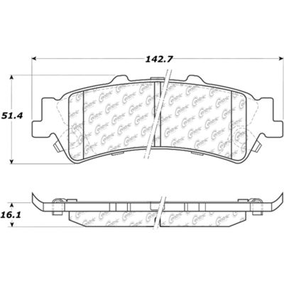 Posi Quiet Extended Wear Brake Pads with Shims and Hardware , Posi Quiet 106.07920