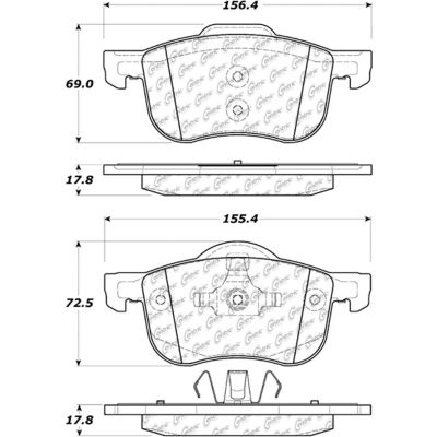 Posi Quiet Extended Wear Brake Pads with Shims and Hardware , Posi Quiet 106.07940