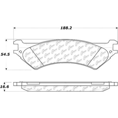 Posi Quiet Extended Wear Brake Pads with Shims and Hardware , Posi Quiet 106.08020