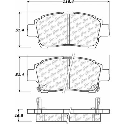 Posi Quiet Extended Wear Brake Pads with Shims and Hardware , Posi Quiet 106.08220
