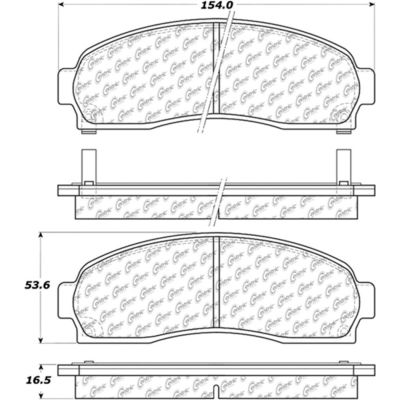 Posi Quiet Extended Wear Brake Pads with Shims and Hardware , Posi Quiet 106.08330