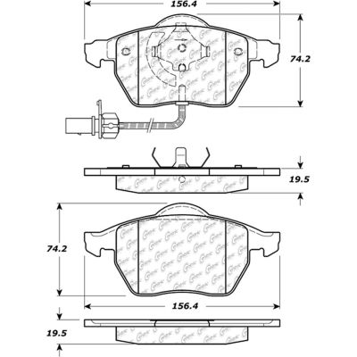 Posi Quiet Extended Wear Brake Pads with Shims and Hardware , Posi Quiet 106.08400