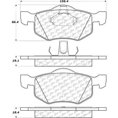 Posi Quiet Extended Wear Brake Pads with Shims and Hardware , Posi Quiet 106.08430