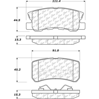 Posi Quiet Extended Wear Brake Pads with Shims and Hardware , Posi Quiet 106.08680