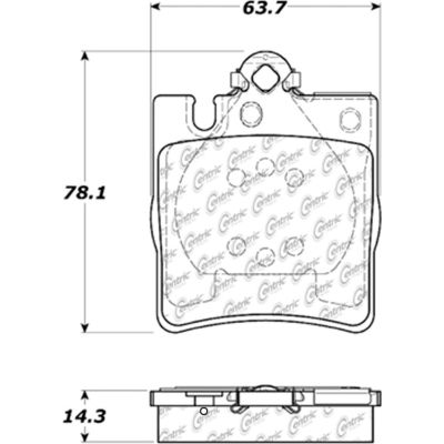 Posi Quiet Extended Wear Brake Pads with Shims and Hardware , Posi Quiet 106.08760