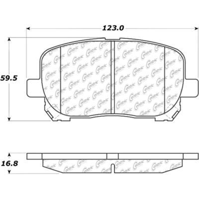 Posi Quiet Extended Wear Brake Pads with Shims and Hardware , Posi Quiet 106.09230