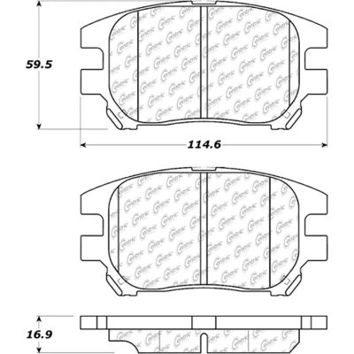 Posi Quiet Extended Wear Brake Pads with Shims and Hardware , Posi Quiet 106.09300