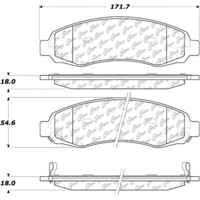 Posi Quiet Extended Wear Brake Pads with Shims and Hardware , Posi Quiet 106.09620