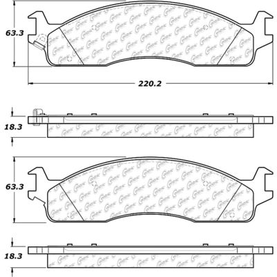 Posi Quiet Extended Wear Brake Pads with Shims and Hardware , Posi Quiet 106.09650