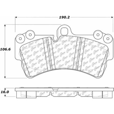 Posi Quiet Extended Wear Brake Pads with Shims and Hardware , Posi Quiet 106.09770