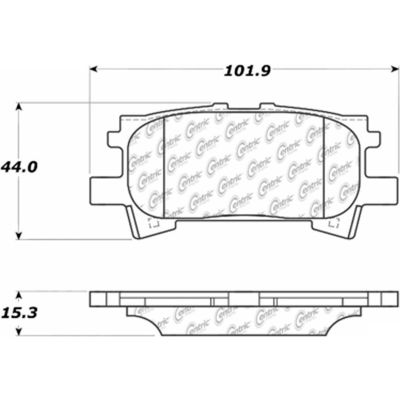Posi Quiet Extended Wear Brake Pads with Shims and Hardware , Posi Quiet 106.09960