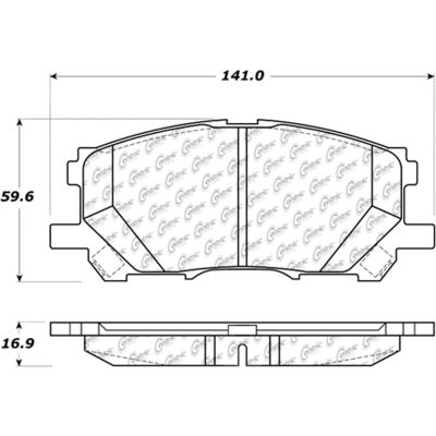 Posi Quiet Extended Wear Brake Pads with Shims and Hardware , Posi Quiet 106.10050