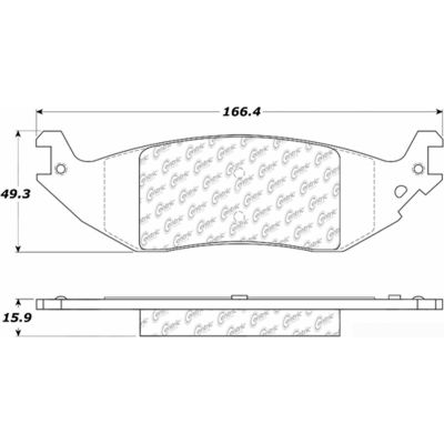 Posi Quiet Extended Wear Brake Pads with Shims and Hardware , Posi Quiet 106.10460