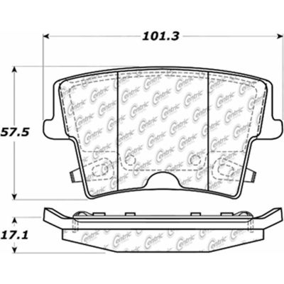 Posi Quiet Extended Wear Brake Pads with Shims and Hardware , Posi Quiet 106.10570