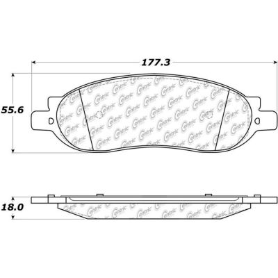 Posi Quiet Extended Wear Brake Pads with Shims and Hardware , Posi Quiet 106.10680