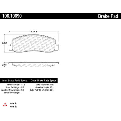 Posi Quiet Extended Wear Brake Pads with Shims and Hardware , Posi Quiet 106.10690