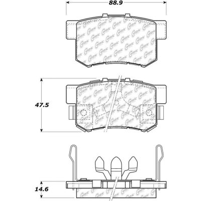 Posi Quiet Extended Wear Brake Pads with Shims and Hardware , Posi Quiet 106.10860