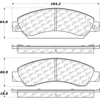 Posi Quiet Extended Wear Brake Pads with Shims and Hardware , Posi Quiet 106.10920