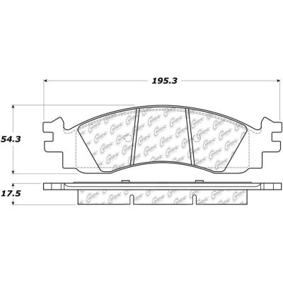 Posi Quiet Extended Wear Brake Pads with Shims and Hardware , Posi Quiet 106.11580