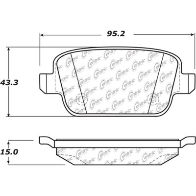 Posi Quiet Extended Wear Brake Pads with Shims and Hardware , Posi Quiet 106.13140