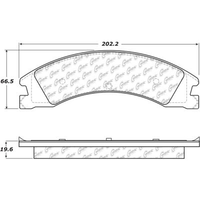 Posi Quiet Extended Wear Brake Pads with Shims and Hardware , Posi Quiet 106.13300