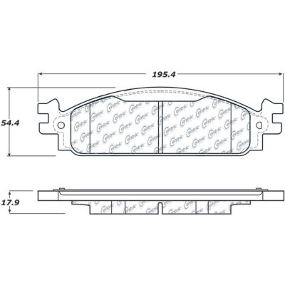 Posi Quiet Extended Wear Brake Pads with Shims and Hardware , Posi Quiet 106.13760